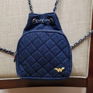 Zara Denim Mini Backpack